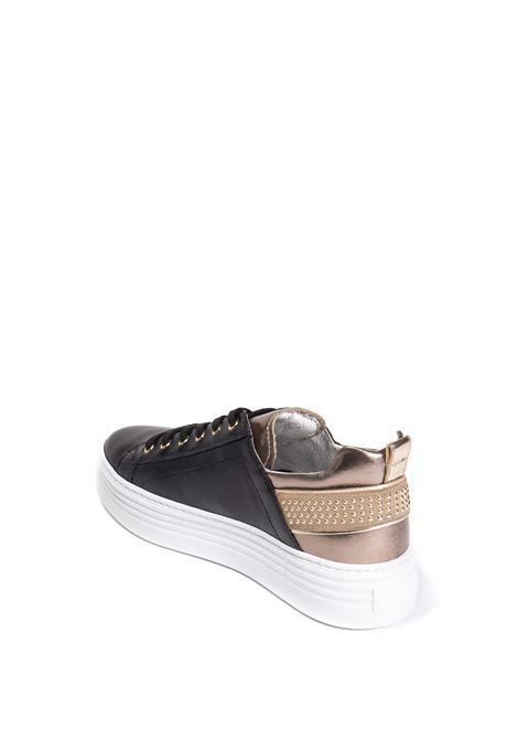 Sneaker guanto nero/oro NERO GIARDINI | Sneakers | 117001GUANTO-100