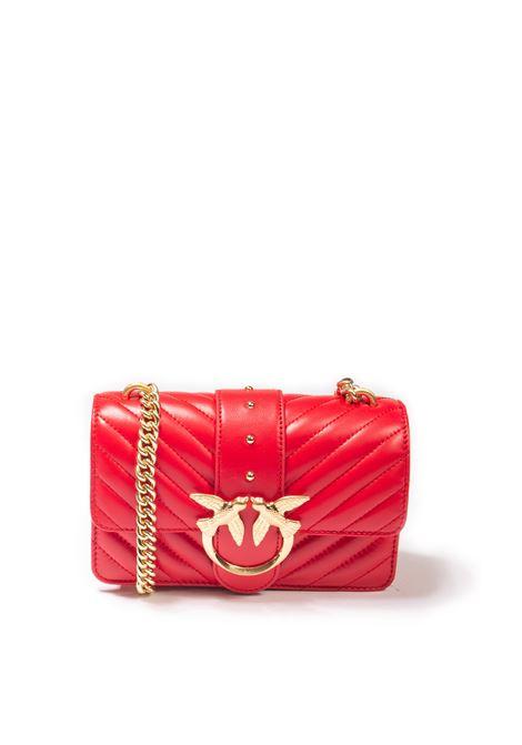 Borsa love mini quilt rosso PINKO | Borse mini | 1P22BWLOVE MINI QUILT-R43
