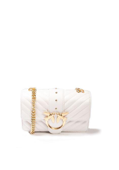 Borsa love mini quilt bianco PINKO | Borse mini | 1P22BWLOVE MINI QUILT-Z14