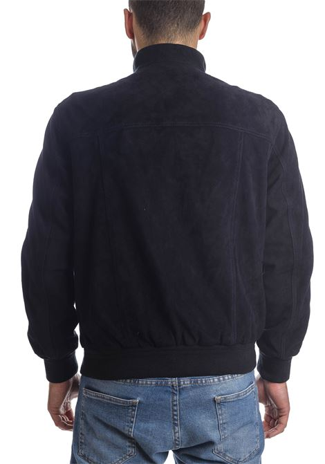 Giubbino camoscio blu PK BY PASKAL | Giubbini in pelle | 003CAM-BLU