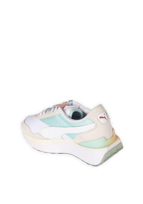 Sneaker cruise rider bianco/verde acqua PUMA | Sneakers | 381881CRUISE RIDER-01