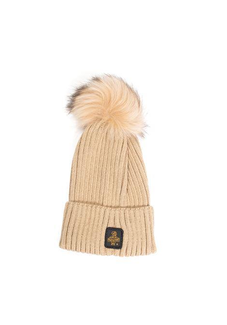 Cappello pon pon beige REFRIGIWEAR   Cappelli   B05500LANA-A00160