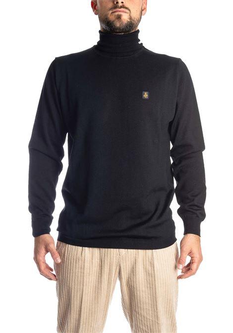 Maglione collo alto lana nero REFRIGIWEAR | Maglieria | M25700LANA-G06000