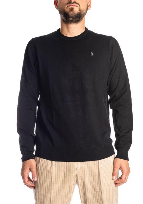 Maglione basic yarn nero REFRIGUE | Maglieria | R40568BASIC YARN-001
