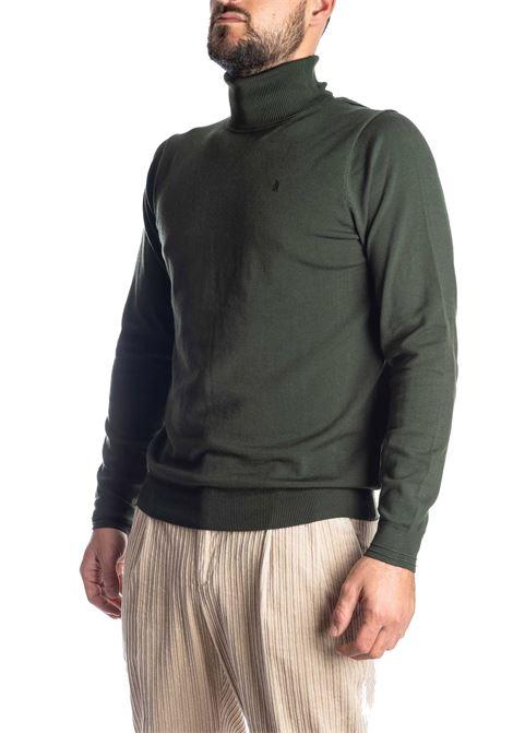 Maglione collo alto verde REFRIGUE | Maglieria | R40571COLLO-10861