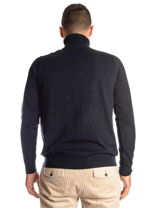 Maglione collo alto blu REFRIGUE | Maglieria | R40571COLLO-125