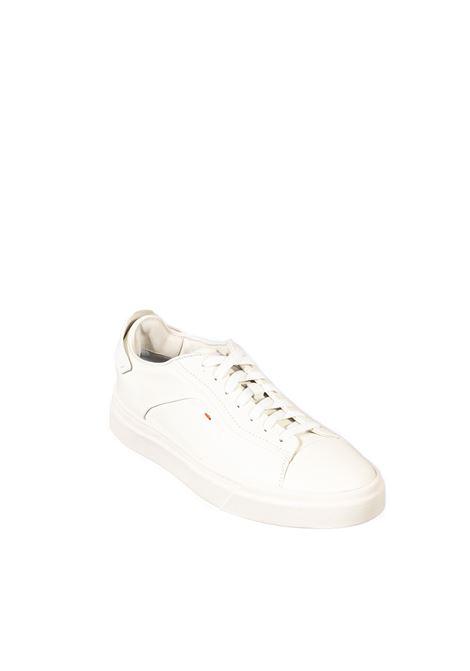 Sneaker logo bianco SANTONI | Sneakers | 21553PELLE-I50