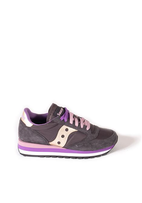 Sneaker jazz triple grigio/viola SAUCONY | Sneakers | 60530JAZZ-11