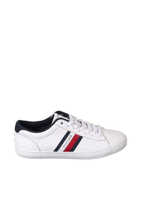 Sneaker vulc stripes blu TOMMY HILFIGER | Sneakers | 3722LEATHER-YBR