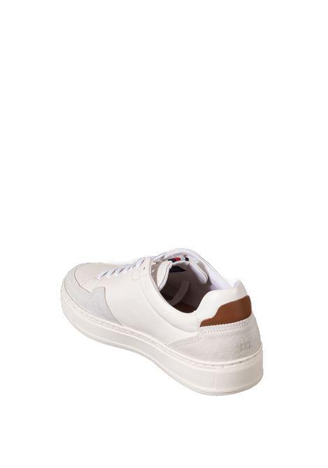 Sneaker sustinable bianco TOMMY HILFIGER | Sneakers | 3830LEATHER-YBR