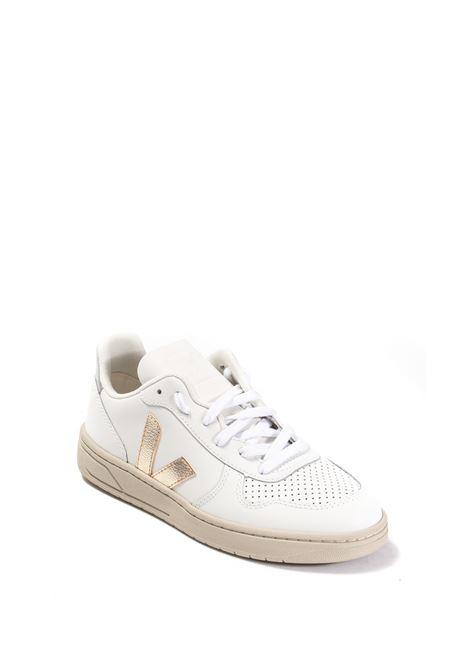 Sneaker v-10 bianco oro VEJA | Sneakers | V-10DLEATHER-022605