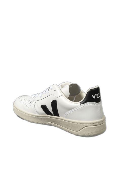 Sneaker v-10 bianco/nero VEJA | Sneakers | V-10ULEATHER-020005