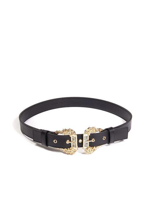 Cintura double buckle nero VERSACE JEANS COUTURE | Cinture | F1771627-899