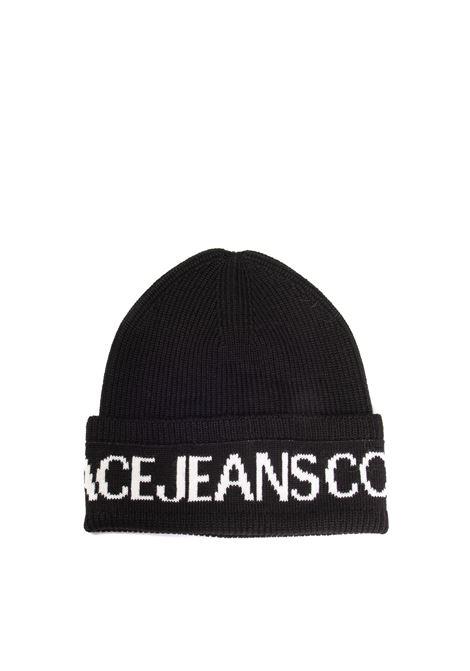 Cappello lana nero/bianco VERSACE JEANS COUTURE | Cappelli | K40ZG020-L01