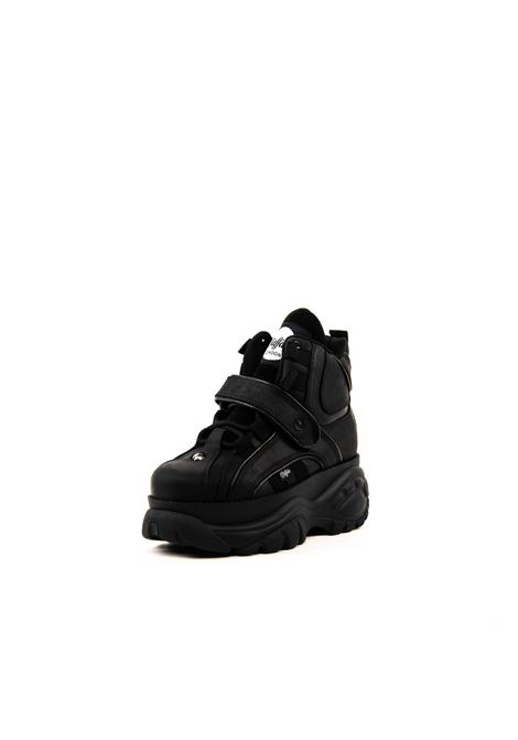 BUFFALO SNEAKER MID COW NERO BUFFALO | Sneakers | 1348COW-BLK