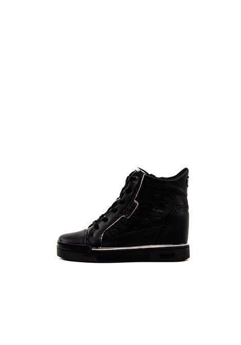 GUESS SNEAKER MID FABIA NERO GUESS | Sneakers | FL7FABFABIA-BLK