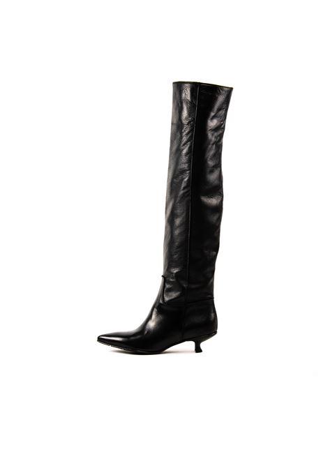 Stivale velvet nero tacco 30 POESIE VENEZIANE | Stivali | JMO03VELVET-NERO