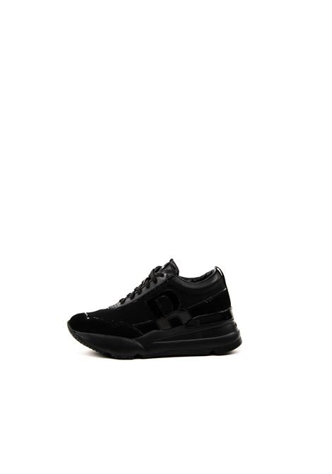 Sneaker Naycer raso/pelle nero RUCOLINE | Sneakers | 4041NAYCER ULTRA-NERO