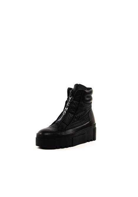 VIC MATIÉ SNEAKER MID PLATFORM NERO VIC MATIÈ | Sneakers | 7776VEL/SHAK-101