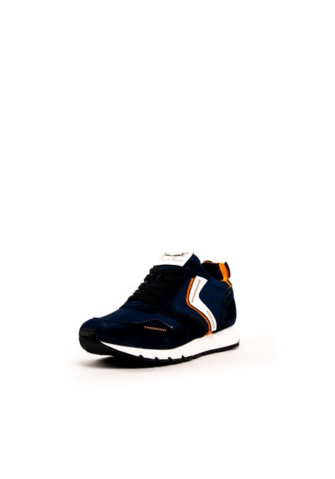 VOILE BLANCHE SNEAKER LIAM UNFINISHED BLU/ARANCIO VOILE BLANCHE | Sneakers | 2014230LIAM UNFINISHED-1C56