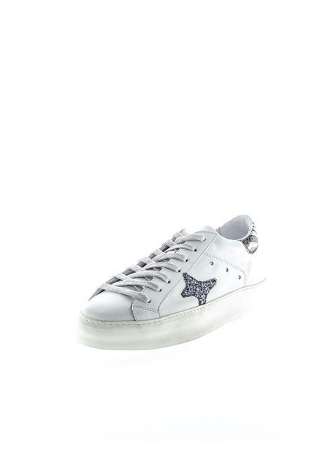 Ama Brand sneaker pelle bianco/glitter nero AMA BRAND DELUXE | Sneakers | 1503PELLE/GLT-BIANCO