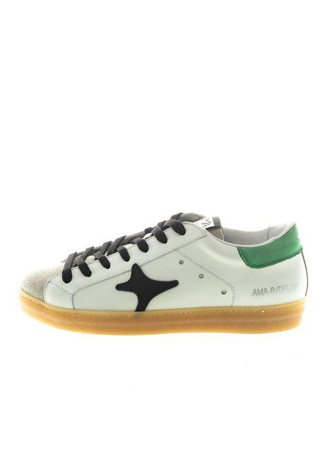Ama Brand sneaker pelle bianco/verde AMA BRAND | Sneakers | 1522PELLE/CAM-BIA/VERDE