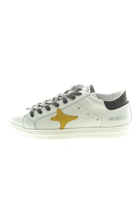 Ama Brand sneaker pelle bianco/giallo AMA BRAND | Sneakers | 1525BIANCO/GIALLO