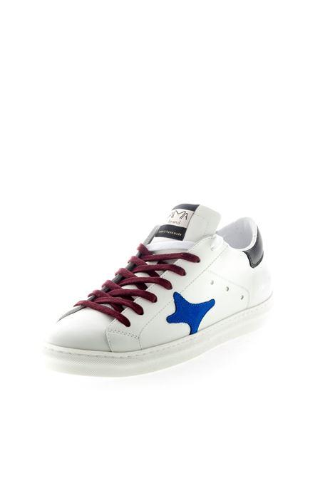 Ama Brand sneaker pelle bianco/blu/bordeaux AMA BRAND | Sneakers | 1527PELLE-BIA/BLU/BORD