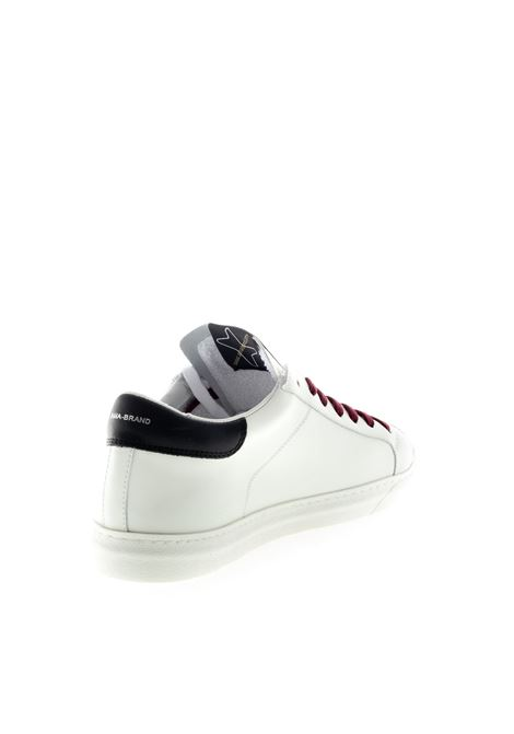 Ama Brand sneaker pelle bianco/blu/bordeaux AMA BRAND DELUXE | Sneakers | 1527PELLE-BIA/BLU/BORD