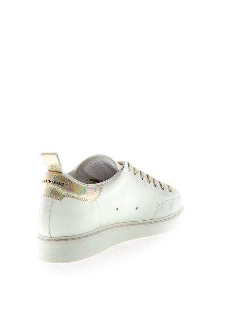 Ama Brand Sneaker pelle bianco/oro AMA BRAND | Sneakers | 1553PELLE-BIANCO/ORO
