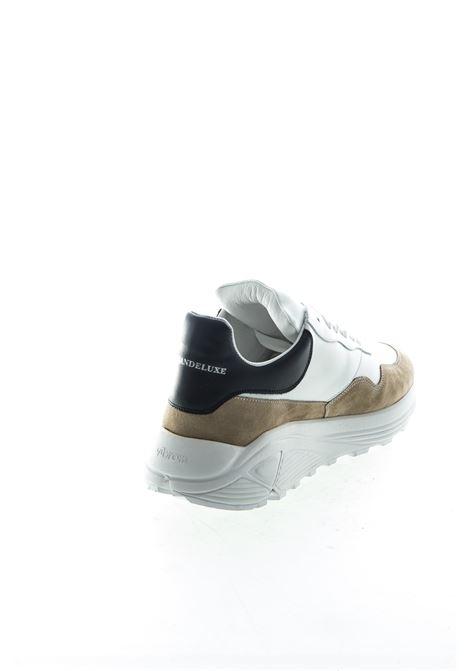 Ama Brand sneaker pelle/camoscio bianco/nero AMA BRAND | Sneakers | 1581PELLE/CAM-BIA/NE