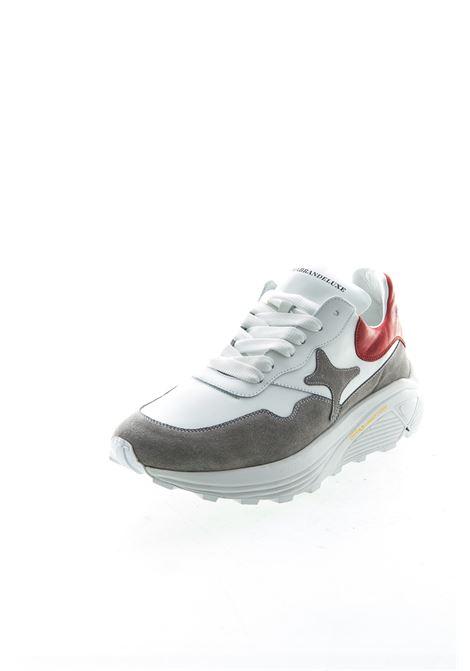 Ama Brand sneaker pelle/camoscio bianco/rosso AMA BRAND | Sneakers | 1583PELLE/CAM-BIA/ROS