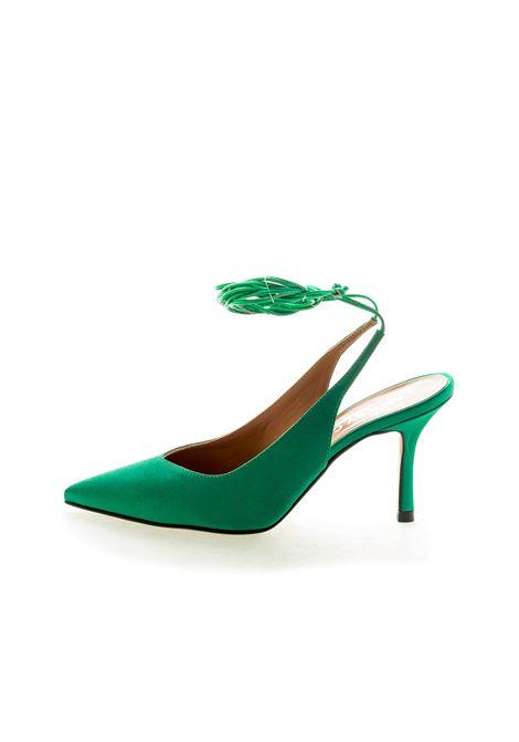 Ashley Cole chanel raso verde t80 ASHLEY COLE | Décolleté | PAS352RASO-VERDE