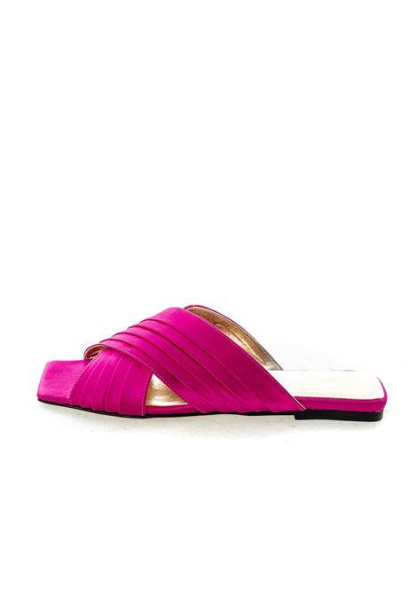 Sandalo Layla raso fuxia ASHLEY COLE | Sandali flats | PASLAYLARASO-FUXIA