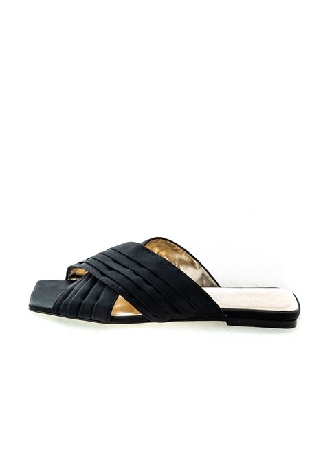 Sandalo Layla raso nero ASHLEY COLE | Sandali flats | PASLAYLARASO-NERO