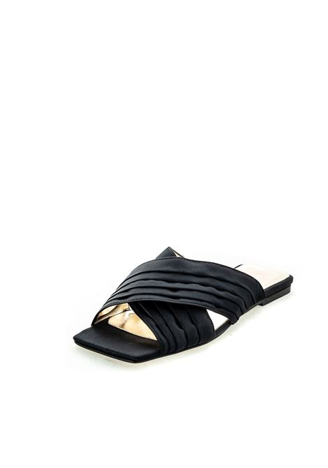Ashleu Cole sandalo layla raso nero ASHLEY COLE | Sandali flats | PASLAYLARASO-NERO