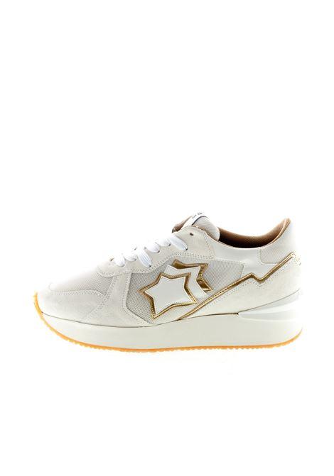 Atlantic Stars sneaker andromeda camoscio/mesh bianco/oro ATLANTIC STARS | Sneakers | ANDROMEDABO-L-ABB