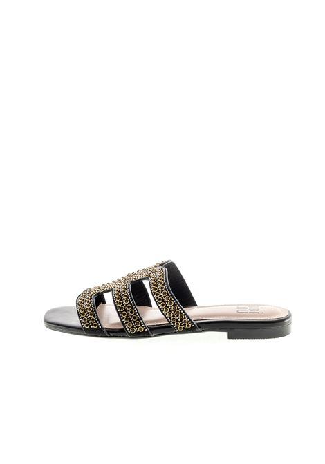 Bibi lou sandalo con pietre nero/rame BIBI LOU | Sandali flats | 837PELLE/PIETRE-NEGRO