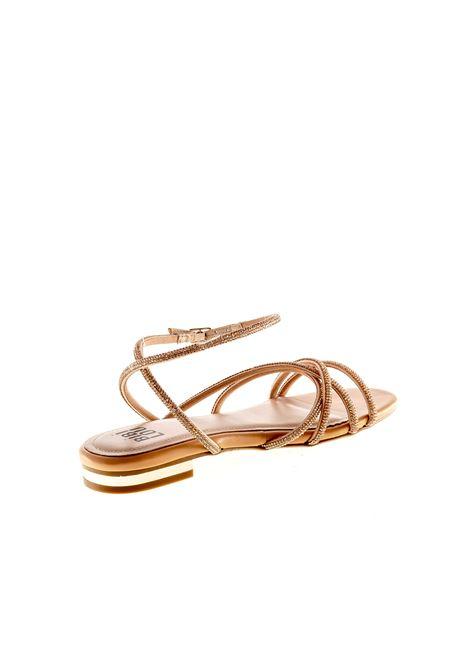 Bibi lou sandalo fasce strass cipria BIBI LOU   Sandali flats   866PELLE/STRASS-NUDE