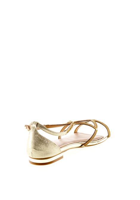 Bibi lou sandalo strass ondulato laminato oro BIBI LOU | Sandali flats | 867LAM-ORO