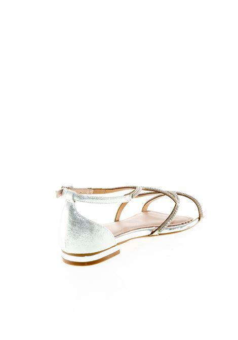 Bibi lou sandalo strass ondulato laminato argento BIBI LOU | Sandali flats | 867LAM-PLATA