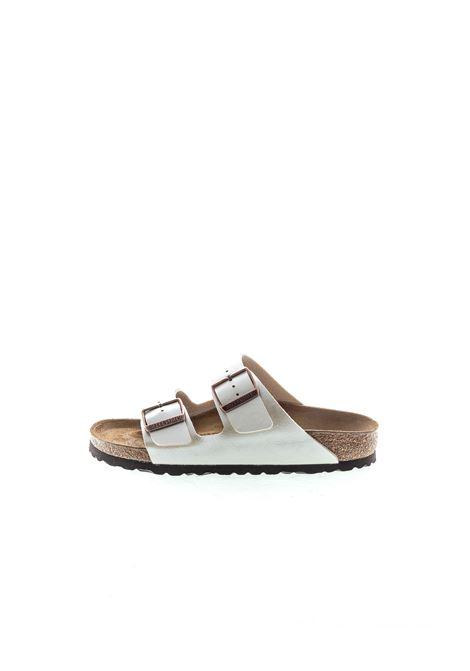 Birkenstock sandalo arizona metallic pearl BIRKENSTOCK | Sandali flats | ARIZONA1009921-PEARL