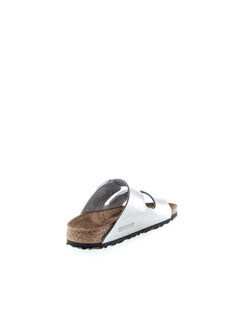 Birkenstock sandalo arizona metallic argento BIRKENSTOCK | Sandali flats | ARIZONA1012283-SILVER