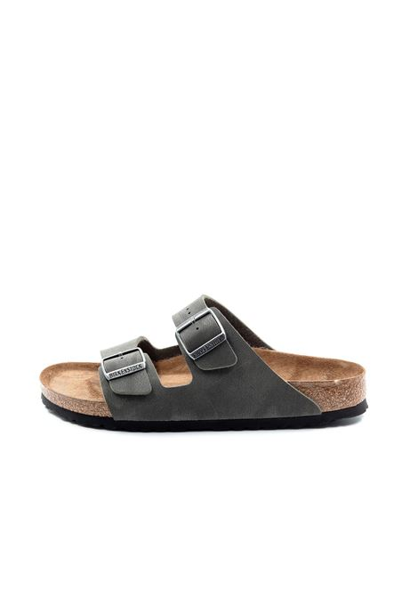 Birkenstock sandalo arizona birko grigio BIRKENSTOCK | Sandali flats | ARIZONA452313-EMERALD GREY