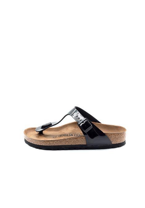 Birkenstock sandalo gizeh patent nero BIRKENSTOCK | Sandali flats | GIZEH043661-BLACK