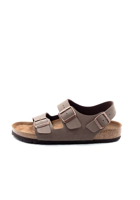 Birkenstock sandalo milano marrone BIRKENSTOCK | Sandali flats | MILANO634503-MOCCA