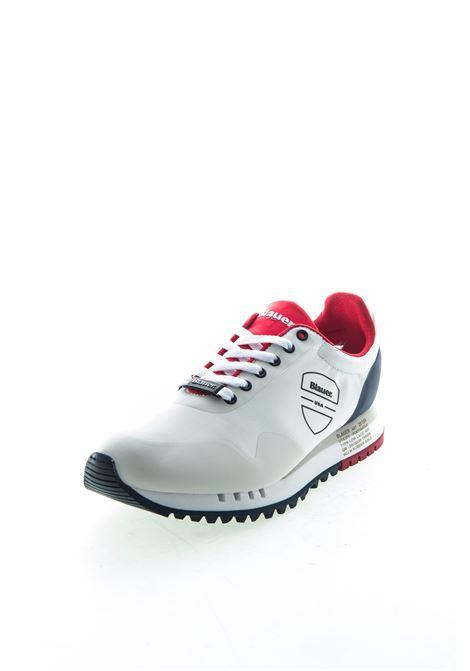 Blauer sneaker denver nylon bianco BLAUER | Sneakers | DENVER04NYLON-WHT/RED/NAVY