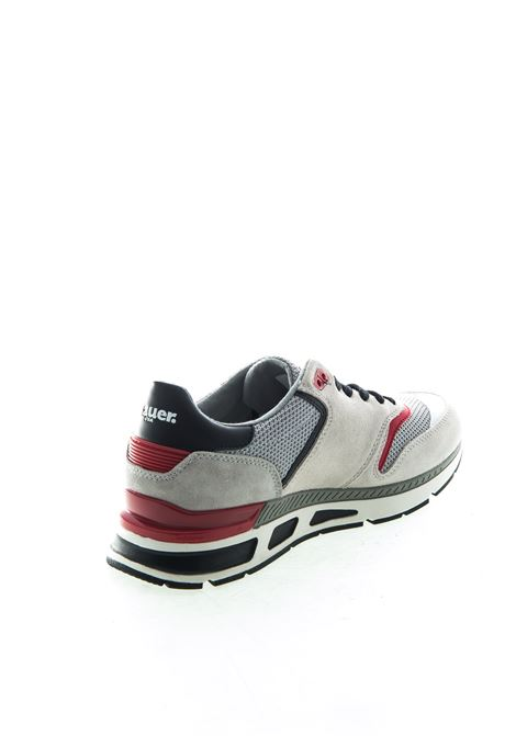 HILO01SUEDE/MESH-WHT/BLK/RED