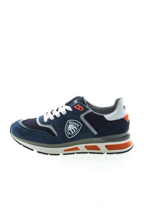 Blauer sneaker hilo blu BLAUER | Sneakers | HILO01SUEDE/NYLON-NAVY