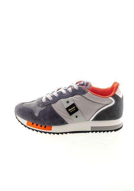 Blauer sneaker queens grigio BLAUER | Sneakers | QUEENS01SUEDE/NYLON-GREY